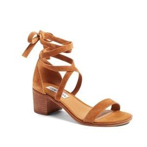 Steve Madden Rizzaa Cognac Wraparound Sandals - 10